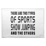 There Are Two Types Of Sports Show Jumping Place Mats