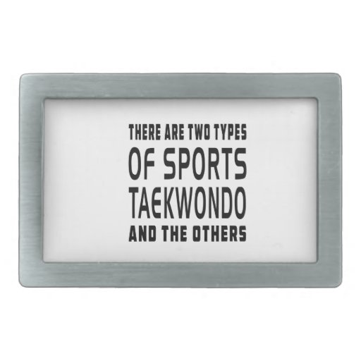 There Are Two Types Of Sports Taekwondo Rectangular Belt Buckles