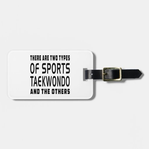 There Are Two Types Of Sports Taekwondo Tag For Luggage