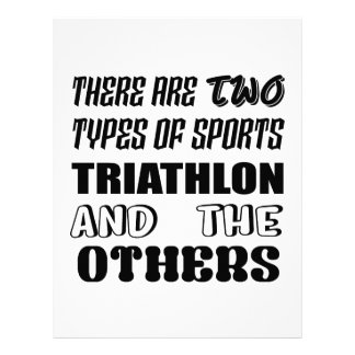 There are two types of sports Triathlon and others Letterhead