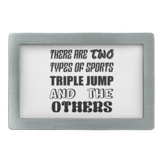 There are two types of sports Triple Jump and othe Rectangular Belt Buckle