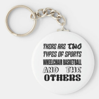There are two types of sports Wheelchair basketbal Keychain