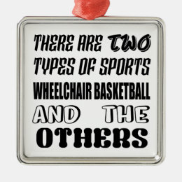 There are two types of sports Wheelchair basketbal Metal Ornament