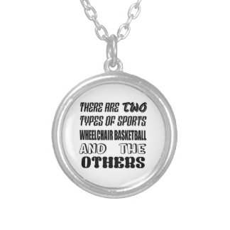 There are two types of sports Wheelchair basketbal Silver Plated Necklace
