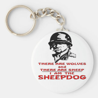 There Are Wolves There Are Sheep I Am The Sheepdog Basic Round Button Keychain