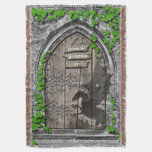 There be Dragons King Arthur Medieval Dragon Door Throw