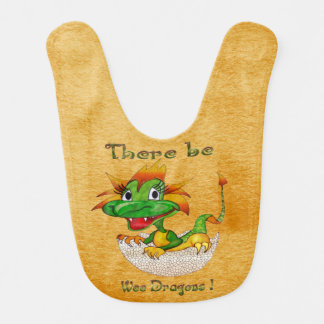 There Be Wee Dragons Baby Bibs