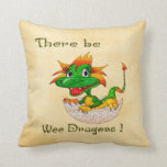 There Be Wee Dragons Nursery Childs DECOR Throw Pillows