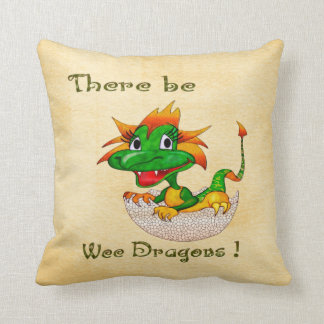 There Be Wee Dragons Nursery Childs DECOR Pillow