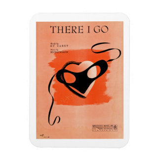There I Go Song Sheet Cover Magnet