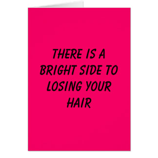 There is a bright side to losing your hair card