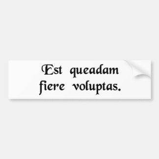 There is a certain pleasure in weeping. car bumper sticker
