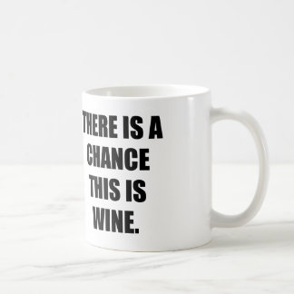 THERE IS A CHANCE THIS IS WINE. COFFEE MUGS