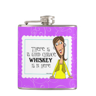 There is a good chance whiskey is in here flask