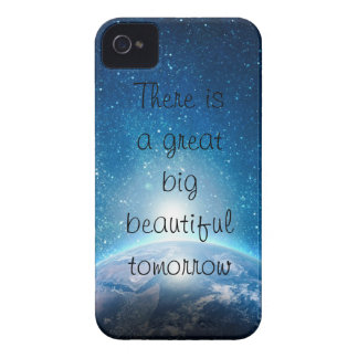 There is  a great  big beautiful  tomorrow quote iPhone 4 Case-Mate cases