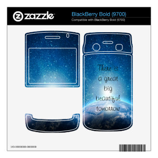 There is a great big beautiful tomorrow quote decals for BlackBerry
