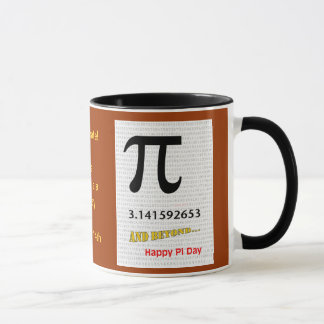 There is a Happy Pi Day March 14, Mug