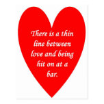 there-is-a-thin-line-between-love-and postcard