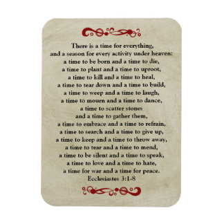 There is a Time for Everything-Vintage Look Rectangular Photo Magnet