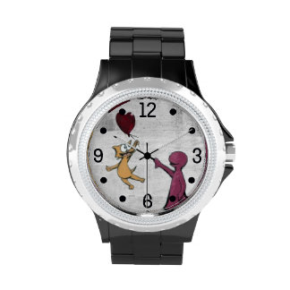 There is Always Joy Cat Balloon Watch