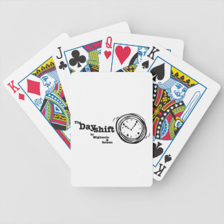 There is always time during The Dayshift Bicycle Playing Cards