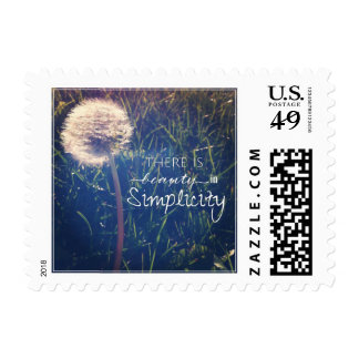 There Is Beauty In Simplicity Postage