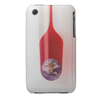 There is earth in the thermometer. iPhone 3 case