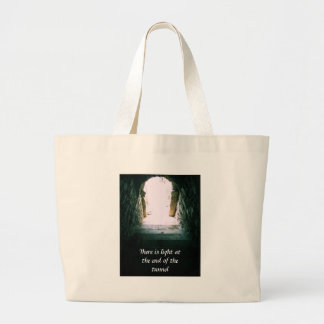 There is light at the end of the tunnel QUOTE Canvas Bags