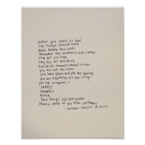 There Is More To You Than Yesterday - A Poem Poster