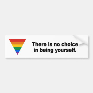 There is no choice in being yourself bumper stickers