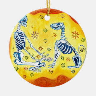 There is no death.  Only different realms Ceramic Ornament