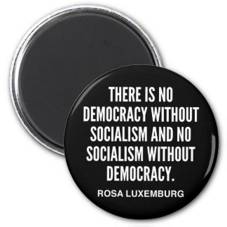 There is No Democracy without Socialism Magnet