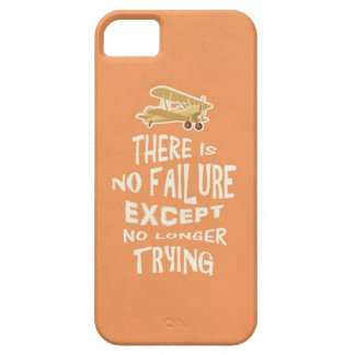 There is no failure except no longer trying quotes iPhone SE/5/5s case