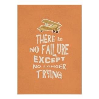 There is no failure except no longer trying quotes print
