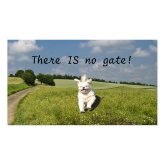 """""""There IS No Gate!"""" Business Card Template"""