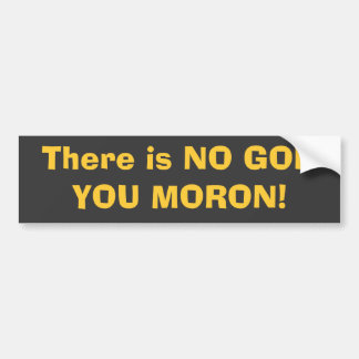 There is NO GOD, YOU MORON! Car Bumper Sticker