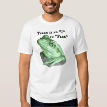 """There Is No """"I"""" In """"Frog"""" Tee Shirt"""