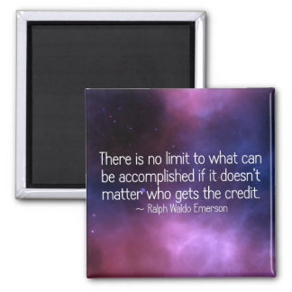There is no limit to what can be accomplished (2) 2 inch square magnet