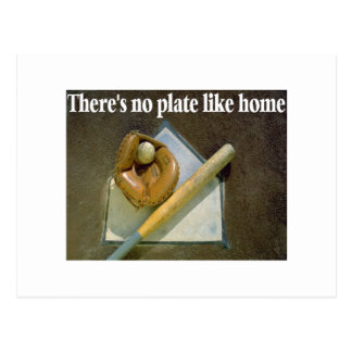 There Is No Plate Like Home Postcard