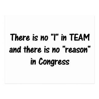 There is no reason in congress b postcard