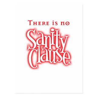 there is no sanity clause postcard