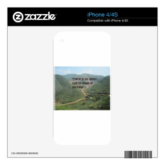 There is no short cut to road of success decal for iPhone 4
