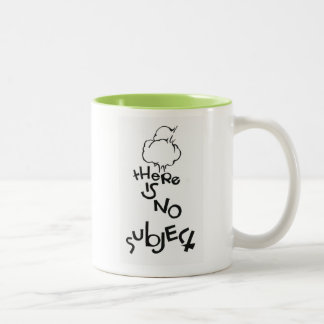 There Is No Subject Two-Tone Coffee Mug