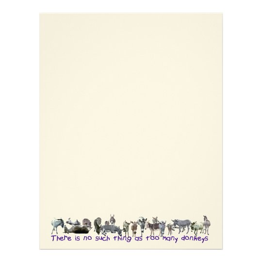 There is no such thing as too many donkeys! letterhead