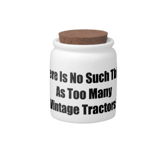 There Is No Such Thing As Too Many Vintage Tractor Candy Jars