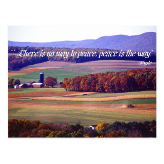 There is no way to peace, peace is the way postcard