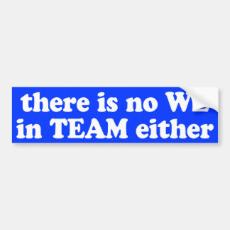 There is no WE in TEAM either sticker