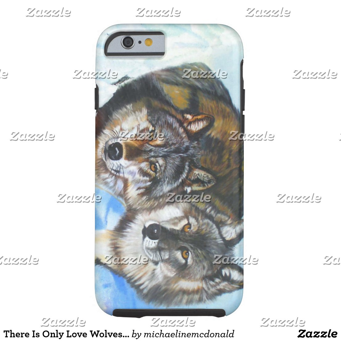 There Is Only Love Wolves Phone Case