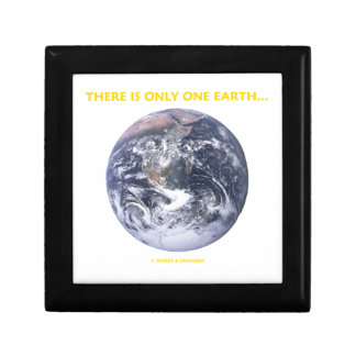There Is Only One Earth... (Blue Marble Earth) Gift Box