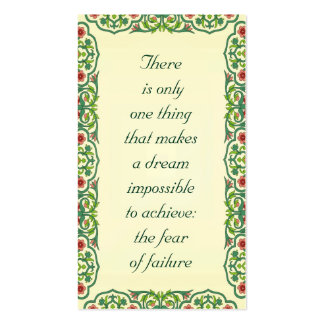There  is only  one thing  that makes  a dream Double-Sided standard business cards (Pack of 100)